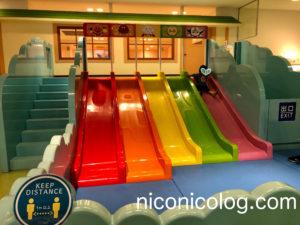 アンパンマンミュージアムの虹のすべり台