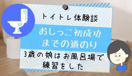 【体験談】トイレトレーニング初成功!3歳の娘はお風呂場で練習をした