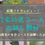 Z会幼児コース年少を3歳児と無料でお試し体験!